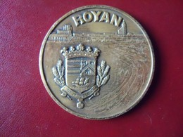 Ancienne Médaille De Table Bronze Ville De ROYAN. Balme - Touristiques