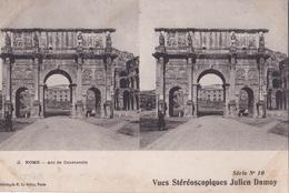 ROME ARC DE COSTANTIN VUES STEREOSCOPIQUESS JULIEN DAMOY SERIE N.10 AUTENTICA 100% - Cartoline Stereoscopiche