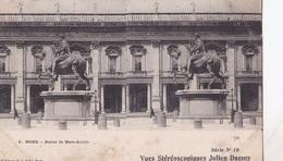 ROME STATUE DE MARC AURELE  VUES STEREOSCOPIQUESS JULIEN DAMOY SERIE N.10 AUTENTICA 100% - Cartoline Stereoscopiche