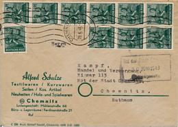 CHEMNITZ - 29.6.48  , 10fach Frankatur -Monetary Reform  ,  Ortsbrief - Berlin (West)