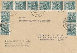 BERLIN SO 36 (Ostberlin)  - 28.6.48  , 10fach Frankatur -  Monetary Reform  ,  Ortsbrief - Berlin (West)