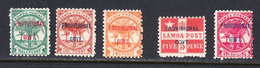 Samoa 1899-1900 Mint Mounted, Sc# ,SG 90-92,94,96 - Samoa
