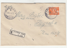 Yugoslavia Letter Cover Travelled Registered 1947 Slavonski Brod To Zagreb B190310 - Covers & Documents