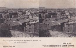 PANORAMA GENERALE DE ROME PRIS DE SAINT PIERRE IN MONTORIO VUES STEREOSCOPIQUESS JULIEN DAMOY SERIE N.10 AUTENTICA 100% - Cartoline Stereoscopiche