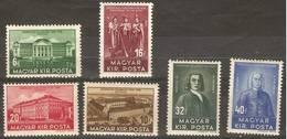 Hungary - 1938 Debrecen University MH *  Sc 529-34 - Hungary