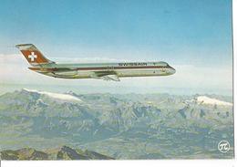 CP AVION DOUGLAS DC 9 51 DE LA SWISSAIR HB-ISS  EDITION P.I.  ECRITE TIMBRE OBLITéRé 1986 VAL DE MARNE ORLY - 1946-....: Era Moderna