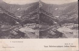 CIRQUE DE GAVARNIE VUES STEREOSCOPIQUESS JULIEN DAMOY SERIE N.11 AUTENTICA 100% - Cartoline Stereoscopiche