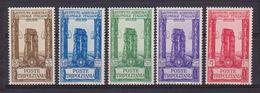 COLONIE ITALIANE TRIPOLITANIA 1930-31 PRO ISTITUTO AGRARIO SASS. 73-77 MNH XF - Tripolitania