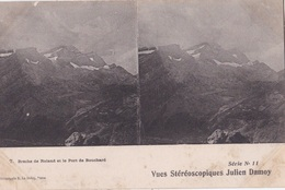 BRECHE DE ROLAND ET LE PORT DE BOUCHARD VUES STEREOSCOPIQUESS JULIEN DAMOY SERIE N.11 AUTENTICA 100% - Cartoline Stereoscopiche