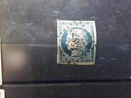 CERES NON DENTELEE No 4 A , 25 C Bleu Foncé Obl Pc 1587 De JOUE DE TOURAINE,  Indre Et Loire Ind 13, Belle Frappe TB - 1849-1850 Ceres