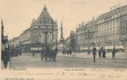 CPA - Belgique - Bruxelles - Brussels - Place De Brockère - Places, Squares