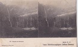 CASCADE DE GAVARNIE VUES STEREOSCOPIQUESS JULIEN DAMOY SERIE N.11 AUTENTICA 100% - Cartoline Stereoscopiche