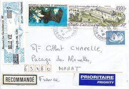 "Nouvelle Caledonie 2006 Belle-Vie Bat 1000f Michel 1281 Cagou Overprint Meter Intermec ""Easy Coder"" Registered Cover - Cartas"