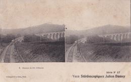CHEMIN DE FER D'OLORON VUES STEREOSCOPIQUESS JULIEN DAMOY SERIE N.11 AUTENTICA 100% - Cartoline Stereoscopiche