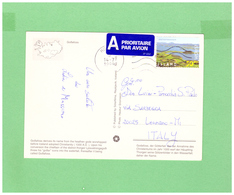 ISLAND 1999 AIR MAIL POSTCARD WITH 1 STAMP TO ITALY - 1944-... Republique