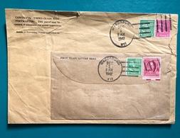 USA Prexy Prexi 1960 Cover Double Used 2c 1c Coil Unusual - Poststempel