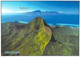 Polynésie Française MOOREA TOHIEA Le Plus Haut Sommet De L'île En Arrière Plan TAHITI (B)(BV) TEVA SYLVAIN 1498 Tahiti - Polynésie Française