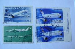 France - Yvert N° PA 60 - 63 X2 - 69 Oblitérés - Poste Aérienne - France