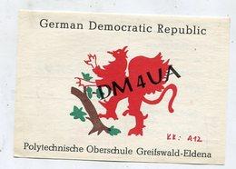 QSL Card - AK 346556 German Democatic Republic - Greifswald - Eldena - Amateurfunk