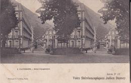 CAUTERETS HOTEL D'ANGLETERRE VUES STEREOSCOPIQUESS JULIEN DAMOY SERIE N.12 AUTENTICA 100% - Cartoline Stereoscopiche