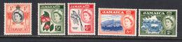 Jamaica 1956-58 Mint No Hinge, Sc# ,SG 159,165,166,167,170 - Jamaica (...-1961)