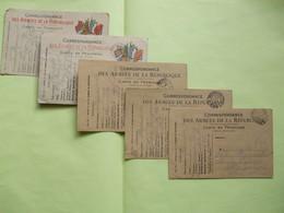 """@ Lot De 5 Cartes """"Correspondance Des Armées De La République"""" Régiment De Marche De La Légion étrangère , 1916.@ - 1. Weltkrieg 1914-1918"""