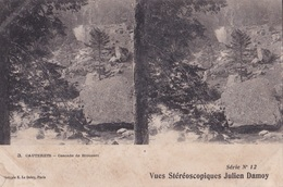 CAUTERETS CASCADE DE BROUSSET VUES STEREOSCOPIQUESS JULIEN DAMOY SERIE N.12 AUTENTICA 100% - Cartoline Stereoscopiche