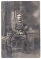 AK Portraitbild Eines Deutschen Soldaten, Feldpost, Gel. 1915 - Guerre 1914-18