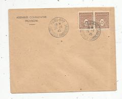 Lettre, PARIS 6 Bis ,  Assemblée Consultative , ASSEMBLEE CONSULTATIVE PROVISOIRE , 25-1-1945, 2 Scans - 1921-1960: Période Moderne