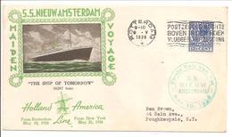S.S. Nieuw Amsterdam Maiden Voyage Holland-New York10.5.38 - Periode 1891-1948 (Wilhelmina)