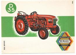 Buvard TRACTEUR RENAULT D35 Agriculture - Agriculture