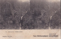 VALLE DU LYS GOUFFRE DE L'ENFER   VUES STEREOSCOPIQUESS JULIEN DAMOY SERIE N.12 AUTENTICA 100% - Cartoline Stereoscopiche