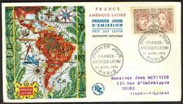 {F047} France 1956 France - Amerique Latine FDC See Scan !! - FDC