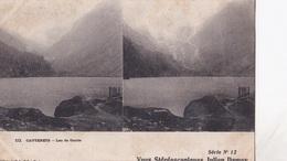 CAUTERETS LAC DE GAUBE VUES STEREOSCOPIQUESS JULIEN DAMOY SERIE N.12 AUTENTICA 100% - Cartoline Stereoscopiche