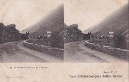 CAUTERETS  CHEMIN DE LA RAILLERE VUES STEREOSCOPIQUESS JULIEN DAMOY SERIE N.12 AUTENTICA 100% - Cartoline Stereoscopiche