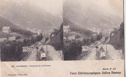 CAUTERETS TRAMWAY DE LA RAILLERE VUES STEREOSCOPIQUESS JULIEN DAMOY SERIE N.12 AUTENTICA 100% - Cartoline Stereoscopiche