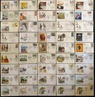 France FDC - Premier Jour - Lot De 45 FDC - Thématique Journée Du Timbre - FDC