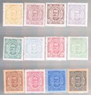 Angola, 1893/4, # 25/36, MH And MNG - Angola