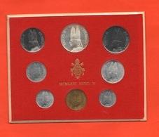 Vaticano Serie 1966 Papa Pope Paolo VI° Anno IV Vatikan State Divisionale 8 Monete - Vatican