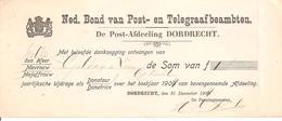 Ned.Bond Van Post- En Telegraafbeambten Afd. Dordrecht - Periode 1891-1948 (Wilhelmina)