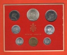 Serie Monete 1965 Vaticano Papa Pope Paolo VI° Anno III Vatikan State Divisionale 8 Monete - Vatican