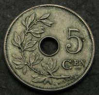 5 Centimes 1907 FL - Copper/Nickel - Leopold II. - AUNC - 03. 5 Céntimos