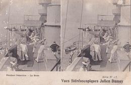PENDANT L'EXERCISE LA BOXE VUES STEREOSCOPIQUESS JULIEN DAMOY SERIE N.13 AUTENTICA 100% - Cartoline Stereoscopiche