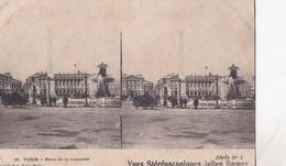 PARIS PLACE DE LA CONCORDE VUES STEREOSCOPIQUESS JULIEN DAMOY SERIE N.1 AUTENTICA 100% - Cartoline Stereoscopiche
