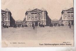 PARIS RUE ROYALE   VUES STEREOSCOPIQUESS JULIEN DAMOY SERIE N.1 AUTENTICA 100% - Cartoline Stereoscopiche