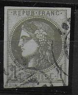 YVERT N° 39B REPORT II OBLITERE - COTE = 200 EUROS - TB - 1870 Emission De Bordeaux