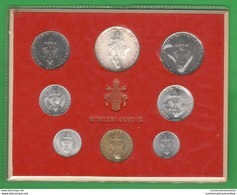 Vaticano Serie 1971 Papa Pope Paolo VI A. IX Vatikan State Divisionale 8 Monete - Vatican