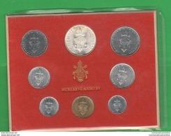 Vaticano Serie 1977 Papa Pope Paolo VI° Anno XV  Vatikan State Divisionale 8 Monete - Vatican