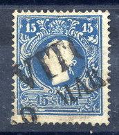 LOMBARDY VENETIA 1858 Franz Joseph 15 Soldi, Used.  Michel 11 II - 1850-1918 Empire
