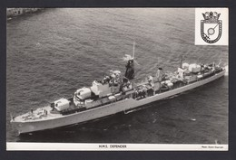 RPPC Modern Real Photo Postcard HMS Defender Royal Navy Ship Boat RP PC - Warships